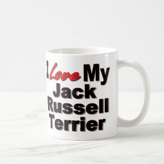 Caneca De Café Eu amo meu Jack Russell Terrier