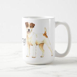 Caneca De Café Eu amo meu Parson Russell Terrier