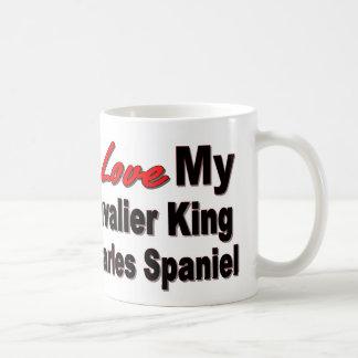 Caneca De Café Eu amo meu Spaniel de rei Charles descuidado