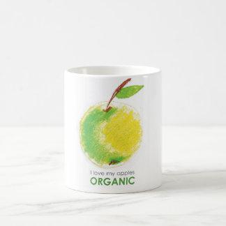 Caneca De Café Eu amo minhas maçãs orgânicas