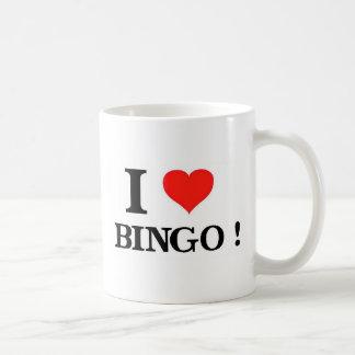 Caneca De Café Eu amo o Bingo