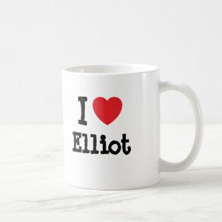 Caneca De Café Eu amo o costume do coração de Elliot