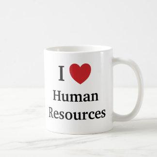 Caneca De Café Eu amo recursos humanos mim recursos humanos do