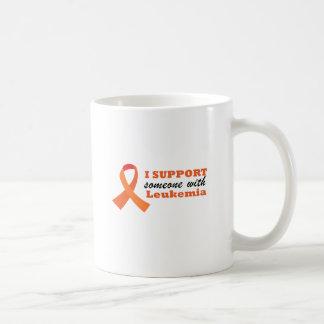 Caneca De Café Eu apoio alguém com leucemia