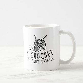 Caneca De Café Eu Crochet assim que eu não unravel
