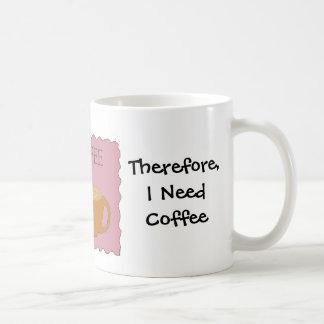 Caneca De Café Eu ensino o design cómico do café com dizer
