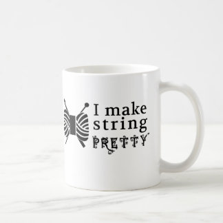 Caneca De Café Eu faço a corda bonito • Artesanatos do Crochet da