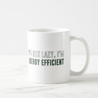 Caneca De Café Eu não sou preguiçoso mim sou energia eficiente