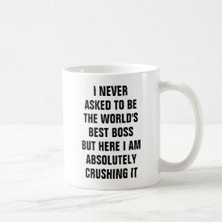 Caneca De Café Eu nunca pedi para ser chefe mas ele do mundo o