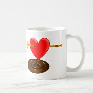 Caneca De Café Eu sangro o chocolate .com
