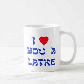 Caneca De Café Eu te amo um Latke