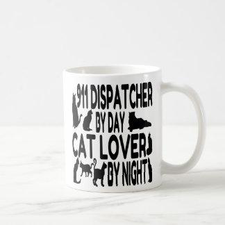 Caneca De Café Expedidor do amante 911 do gato