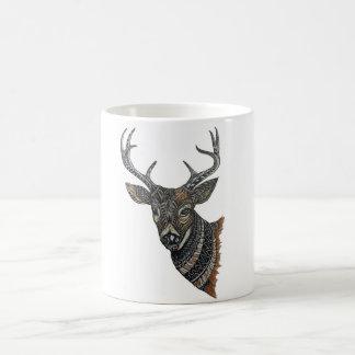 Caneca De Café Fanfarrão dos cervos com design intrincado