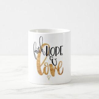 Caneca De Café Fé, esperança & amor