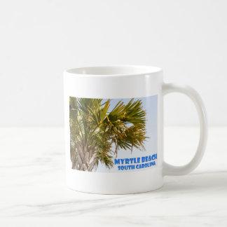 Caneca De Café Férias da palmeira de Myrtle Beach South Carolina