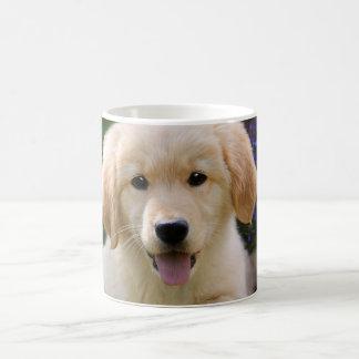 Caneca De Café Filhote de cachorro bonito de Goldie do cão