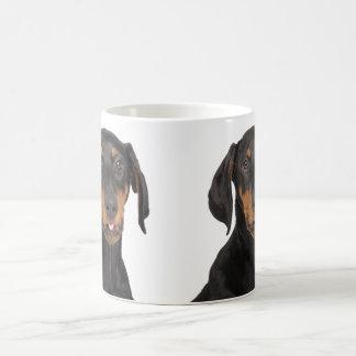 Caneca De Café Filhote de cachorro engraçado do pincher do