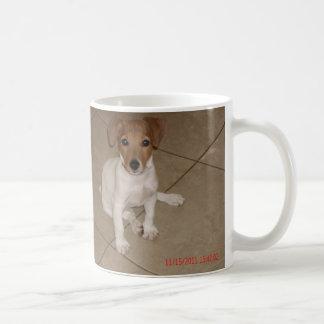 Caneca De Café Filhote de cachorro novo na casa