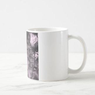 Caneca De Café flor da cor com preto e branco