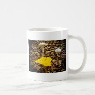 Caneca De Café Folha e cogumelos da queda