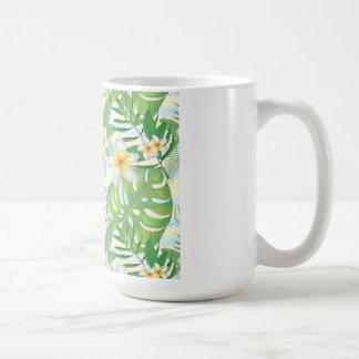 Caneca De Café Folhas tropicais