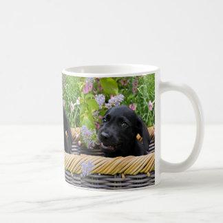 Caneca De Café Foto preta bonito do animal de estimação do