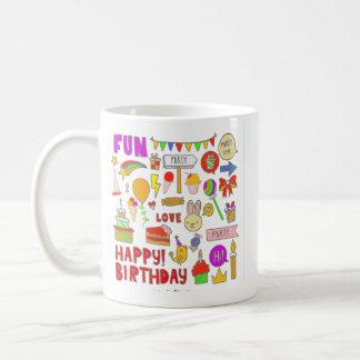 Caneca De Café Fun Happy Birthday