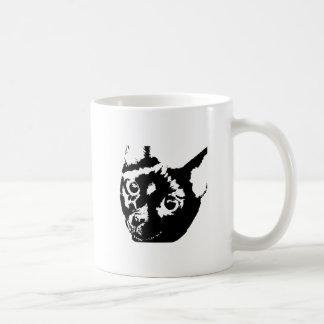 Caneca De Café Gato branco preto