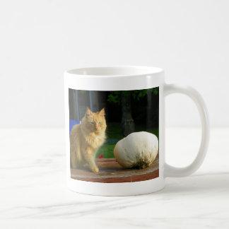 Caneca De Café gato com cogumelo