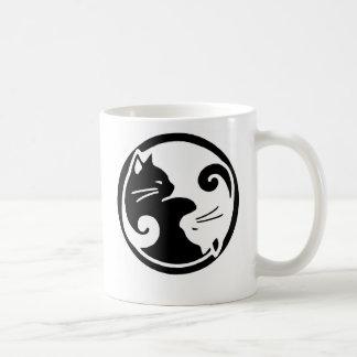 Caneca De Café Gatos de Yin Yang