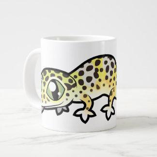 Caneca De Café Gigante Geco do leopardo dos desenhos animados