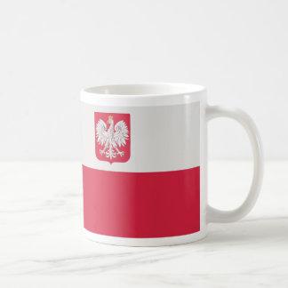 Caneca De Café Godłem de Flaga Polski z - bandeira do Polônia