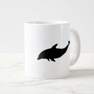 Caneca De Café Grande Silhueta do golfinho