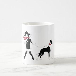 Caneca De Café Great dane e menina