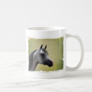 Caneca De Café Grunge árabe do cavalo