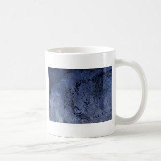 Caneca De Café Grunge roxo colorido brilhante do abstrato do azul