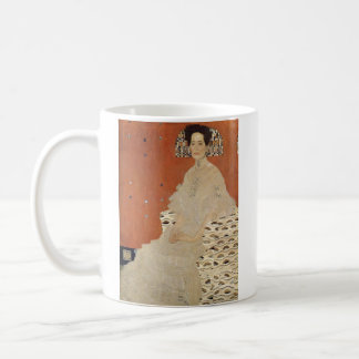 Caneca De Café GUSTAVO KLIMT - Retrato de Fritza Riedler 1906