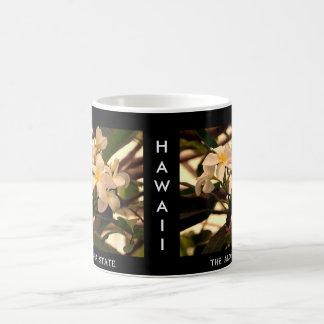 """Caneca De Café Havaí """"flor dos leus Aloha do estado"""""""