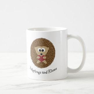 Caneca De Café Hedgehugs e ouriço dos beijos