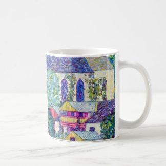 Caneca De Café Igreja do St. Wolfgang por Gustavo Klimt, arte do