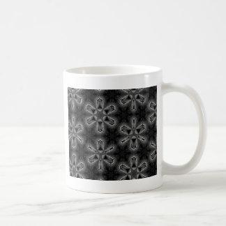 Caneca De Café Impressão preto e branco do caleidoscópio