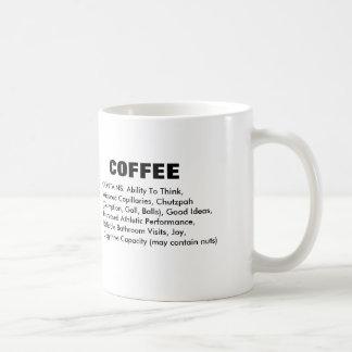 Caneca De Café Ingredientes do café