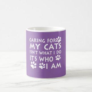 Caneca De Café Inquietação com meus gatos