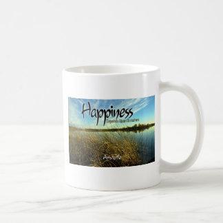 Caneca De Café Inspiração -- Aristotle e felicidade