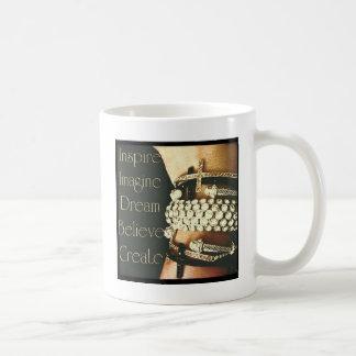 Caneca De Café Inspire, imagine, sonhe, acredite, criar