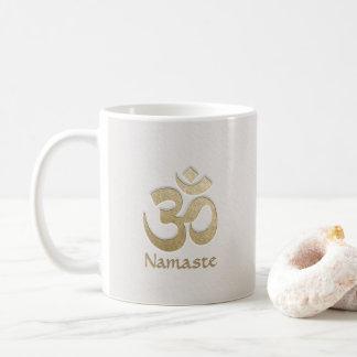 Caneca De Café Instrutor da mediação da ioga do símbolo de OM do
