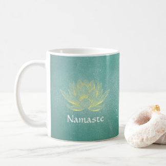 Caneca De Café Instrutor elegante da mediação da ioga de Lotus do