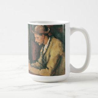 Caneca De Café Jogadores de cartão por Paul Cezanne, belas artes