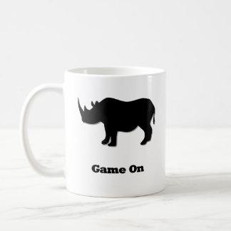 Caneca De Café Jogo do rinoceronte no preto