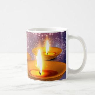 Caneca De Café Lâmpadas de óleo felizes de Diwali em